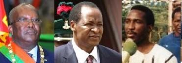 De g à d : Roch kaboré, Blaise Compaoré, Thomas Sankara - http://www.burkinapourtous.fr
